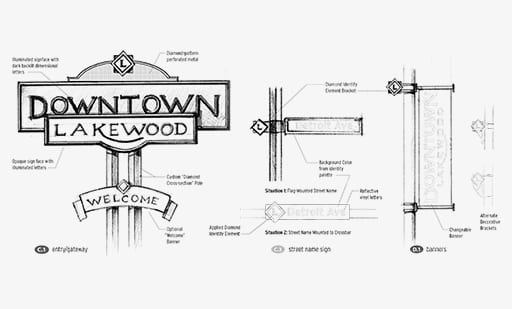 Downtown Lakewood Concept Sketches