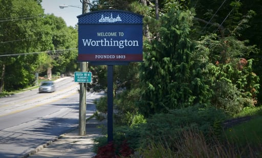 Worthington Gateway Sign