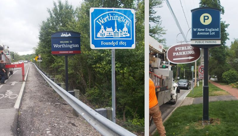 Worthington Sign Installation